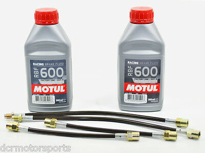 Durites flexibles Goodridge Honda Civic/CRX ED4-ED7-EE8/9/ED9 + 2 Motul RBF 600