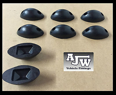 8 X Rubber Mouse Buffer Oval Black Truck Trailer Horsebox Tipper Tail Board