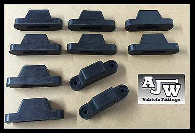 10 X Rubber Top Hat Buffer black Truck Trailer Dropside Horsebox Tailboard