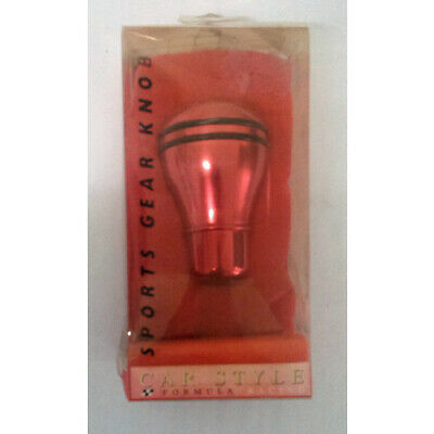 Autotechnica Formula Racing Round Universal Gear Shift Knob Red Anodised