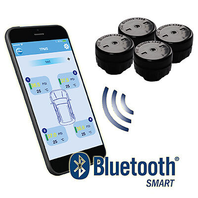 """Accutire TPMS """"Bluetooth"""" Tyre Pressure Monitoring System -with Phone App MS4388"""