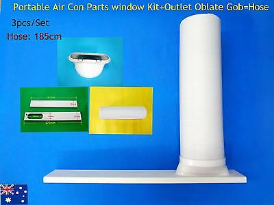 Portable A/C Spare Part Outlet oblate gob+Window Kit+hose 1.85m - 3pc/Set (15)