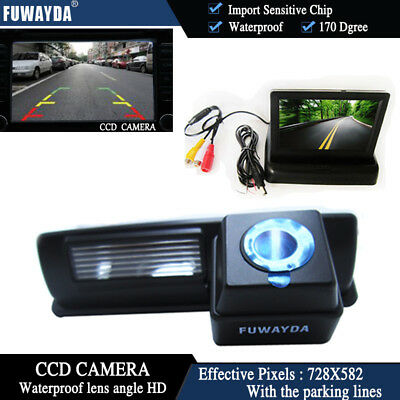 4.3'' Foldable  CCD Monitor Reverse Camera for Toyota CAMRY Picnic Verso  Yaris