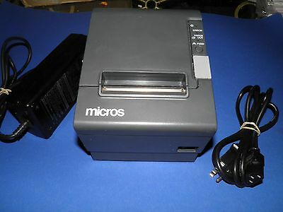 Micros Epson TM-T88IV Dark Gray Thermal Receipt Printer IDN Interface M129H