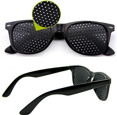 Anti-fatigue Pinhole Glasses Stenopeic Vision Improve Eyesight Car Sunglasses CI