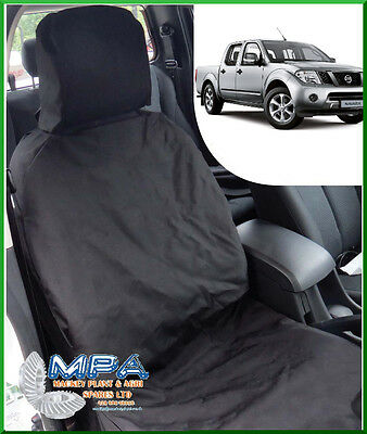 Nissan Navara Tailored Front Seat Cover Black (2005-2015) Fitted Heavy Duty