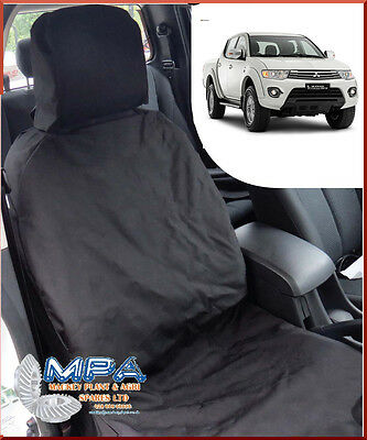 Mitsubishi L200 Tailored Front Seat Cover Black (2005-2015) Fitted Heavy Duty