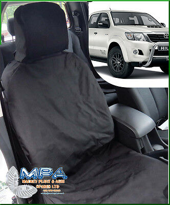 Toyota Hilux Tailored Front Seat Cover Black (2005-2015) Fitted