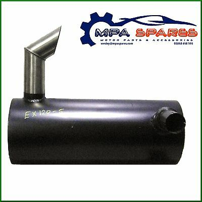 Hitachi Ex120-5 Exhaust - Silencer Box/muffler With Stainless Steel Outlet Pipe