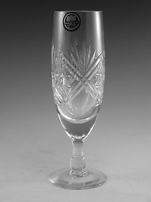 Thomas WEBB Crystal - ST ANDREWS Cut - Champagne Flute Glass / Glasses - 7 1/8""