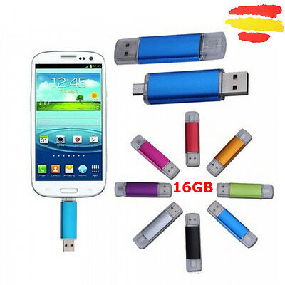 Pendrive Otg Memoria Usb 2.0 Pen Drive 16Gb 16 Gb Para Móvil Tablet Android Fino