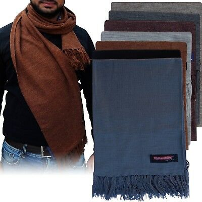 ARD CHAMPS™ Unisex New 100% soft Solid Plain Pashmina Cashmere Scarf Warm Wool