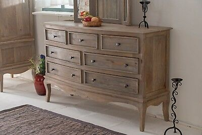 Bourdeilles 7 Drawer Chest Solid Shabby Chic in Mango Free Del!!