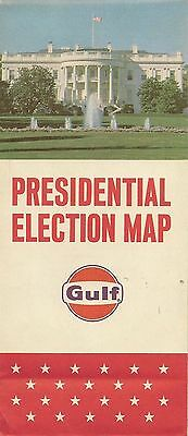 1964 GULF OIL Presidential Election Map Lyndon Johnson versus Barry Goldwater