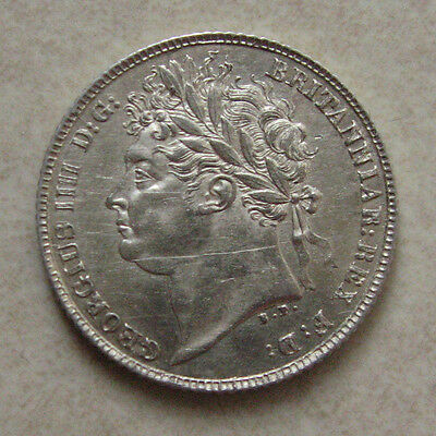 Silver Sixpence 1821 Coin King George Iiii Good Extremely Fine Grade