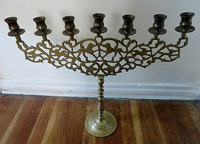 Antique Collectible Metal Solid Brass Candelabra 7 Arm Candle Holder