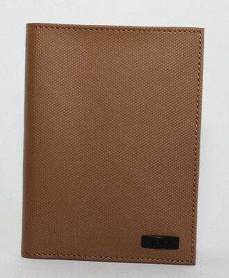 Tumi Men's Leather Passport Cover Case with ID Lock Protection Tan NWT