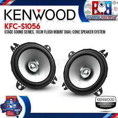 """Kenwood Kfc-e1055  4"""" 210w  2 Way Dual Cone Factory Replacement Speakers 4 Inch"""
