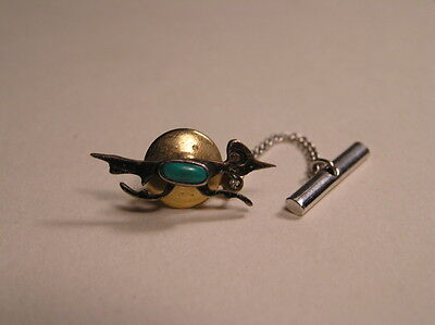 Old Pawn Silver/Turquoise Roadrunner Tie Tack