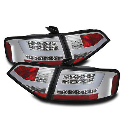 2009-2012 Audi A4/s4 4Dr Sedan Chrome Altezza Led Rear Tail Brake Light Pair Set