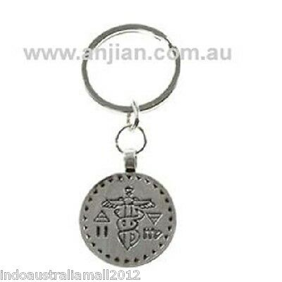 Talisman of Caduceus Intelligence and Travel Staff of Mercury Key Ring (KR024)