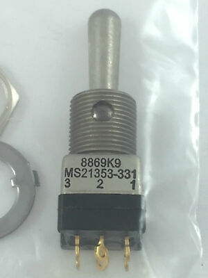 EATON Cutler-Hammer 8869K9 Toggle Switch MS21353-331 Miniature Positive Action