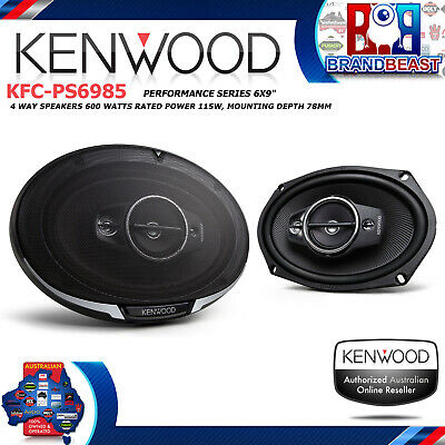 KENWOOD KFC-PS6985 PERFORMANCE SERIES 600w 6X9 4 WAY COAXIAL SPEAKER SYSTEM BASS