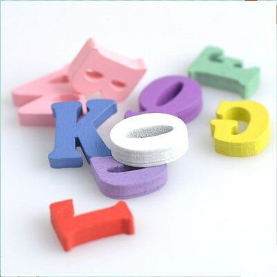 50pcs Wooden Alphabet Letters No Choose A-Z Just Random Mixed Bridal Decor DIY