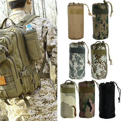 Newest Outdoor Tactical Military Water Bottle Bag Kettle Pouch Holder Carrier