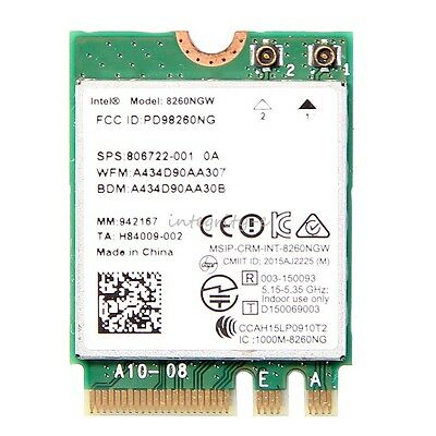 Intel 8260 AC 8260NGW NGFF WIFI Network Card windows 7 8 10 867Mbps 2.4/5GHz