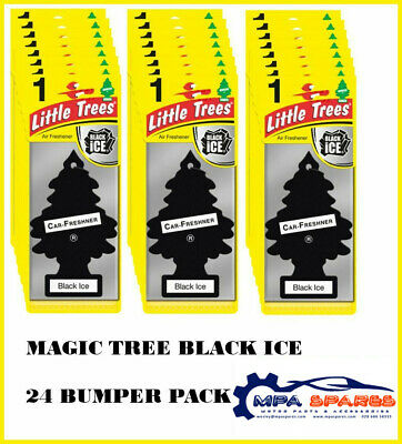 24 Bumper Pack Of Black Ice Scent Magic Tree Car/home/office Air Freshner