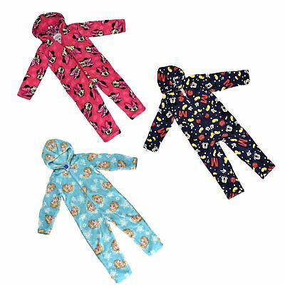 Official Disney Boys Girls Pyjamas All in One Sleepsuit Soft Feel Flece