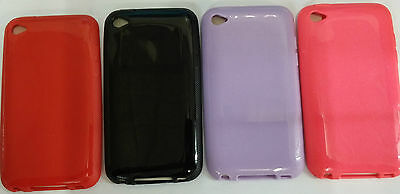 For iPod Touch 4th Generation 4G 4 Colour  Rubber Gel Skin Case Cover