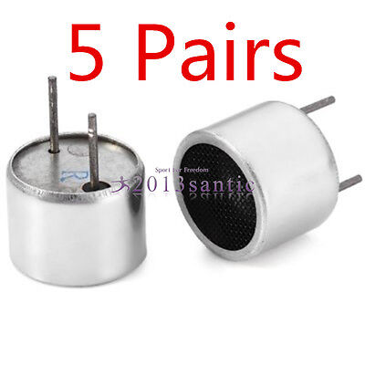 5 Pairs 16mm 40KHZ Launching Fission Transceiver Ultrasonic Sensor Probe