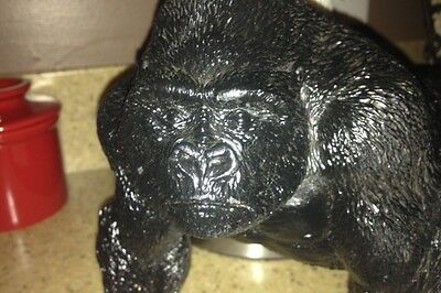 ERTL Vintage 1997 Toy Collectible Gorilla Black Wilds Of Africa Series
