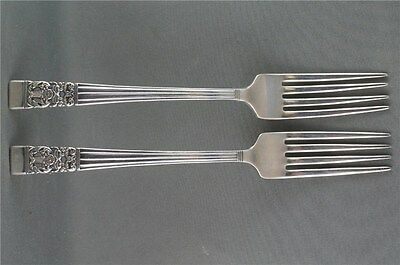 2 Community coronation Luncheon Forks TWO