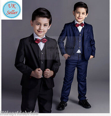 Boys Suits Wedding Page Boy Baby Formal Party , 4 Piece Waistcoat Suit