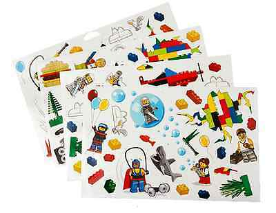 Lego ® Set Lot x4 Planches de Stickers Muraux 50x35 cm Déco Chambre Enfant NEW