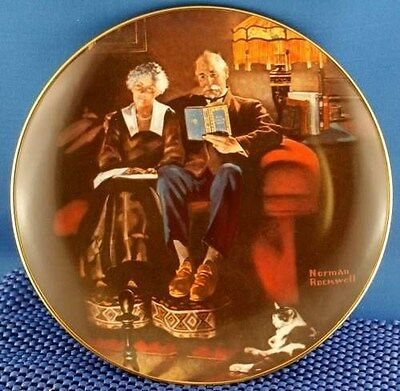 Norman Rockwell Evenings Ease Light Campaign Series Plate