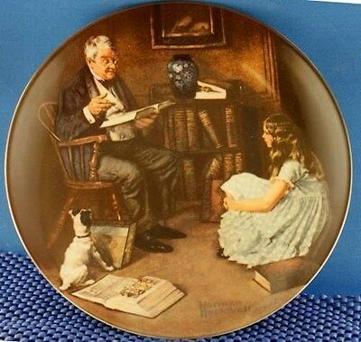 Norman Rockwell The Story Teller Heritage Series Plate.
