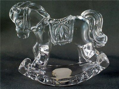 Princess House 24% lead Crystal Rocking Horse