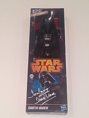 RARE Dave Prowse Signed Darth Vader Figure + COA SIGNED AUTOGRAPH STAR WARS