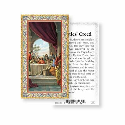 Apostles Creed - Gold Trim - Paperstock Holy Card