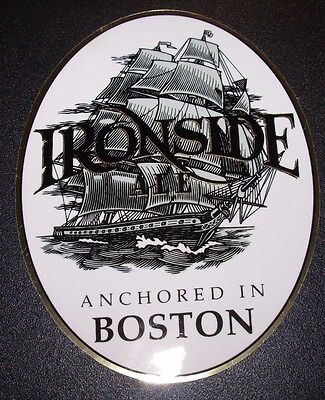 IRONSIDE ALE Anchored In Boston STICKER decal craft beer brewery brewing