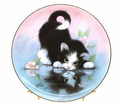 """Rainy Day Friends"" from the CURIOUS KITTENS Plate Collection Hamilton 1990"