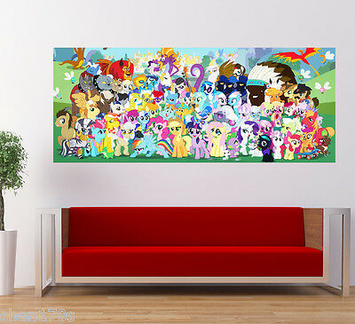 My Little Pony Poster Horse Children Kids Nursery Wall Art Deco Large Banner