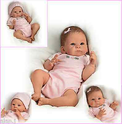 Little Peanut  Ashton Drake Poseable weighted Newborn Baby Doll- pink Outfit