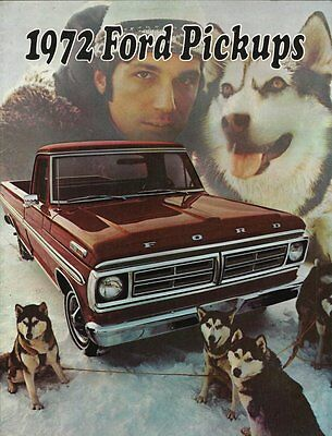 1972 Dealership Booklet - 1972 Ford Pickups - NICE Condition