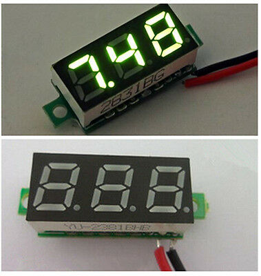 0.28 Inch DC 2.5V-30V Gree LED Mini Digital Voltmeter Voltage Tester Meter CIT