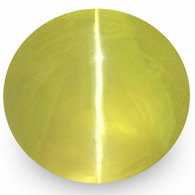 1.93-Carat VS-Clarity Deep Greenish Yellow Chrysoberyl Cat's Eye (IGI-Certified)